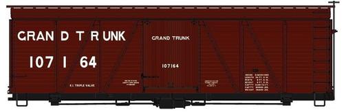 Accurail HO 11581 36' Fowler Wood Box Car Kit, Grand Trunk #107164