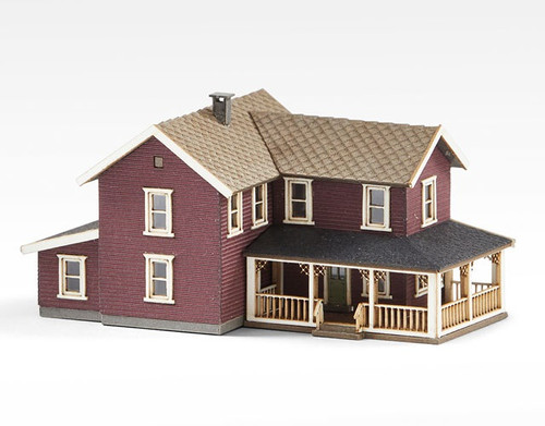Archistories Z 405201 Turn of The Century House Kit, Ruby Red