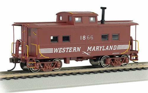 Bachmann HO 16823 NE Steel Caboose, Western Maryland #1863