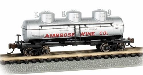 Bachmann N 17158 40' Triple Dome Tank Car, Ambrose Wine #7501