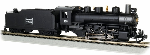 Bachmann HO 50406 0-6-0 Steam Locomotive with Tender, Boston and Maine #406