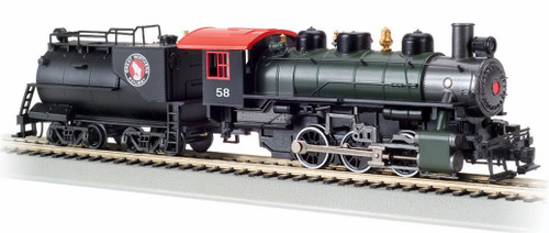 Bachmann HO 50709 0-6-0 Steam Locomotive with Vandy Tender, Great Northern #58
