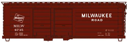 Accurail HO 3983 40' Double Door Box Car, Milwaukee Road #6735