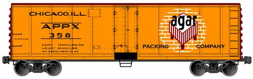 Accurail HO 8326 40' Steel Refrigerator Car, Agar Packing #358