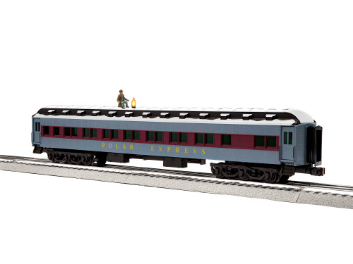 """Lionel O 2027480 18"""" Hobo Car with Snow Roof, Polar Express"""