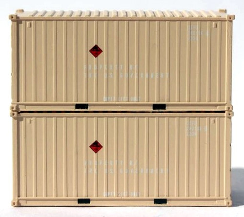 Jacksonville Terminal Company N 205453 20' Standard Height Containers, US Air Force (2)