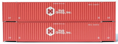 Jacksonville Terminal Company N 535018 53' High Cube 6-42-6 Containers, Hub Group (2)