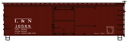 Accurail HO 1411 36' Double Sheath Wood Box Car Kit, Louisville and Nashville