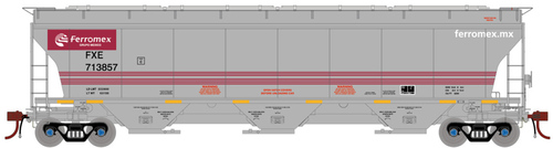 Athearn Genesis HO G89970 Trinity 3-Bay Hopper, Ferromex #713857