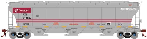 Athearn Genesis HO G89971 Trinity 3-Bay Hopper, Ferromex #713892