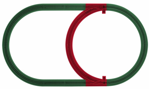 Lionel S 6-49890 American Flyer FasTrack Inner Passing Loop Add-On Track Pack