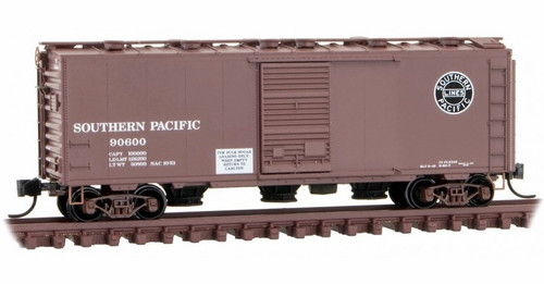 Micro-Trains N 02000247 40' Standard Box Car with Single Door, Roof Hatches and Bays, Southern Pacific #90600