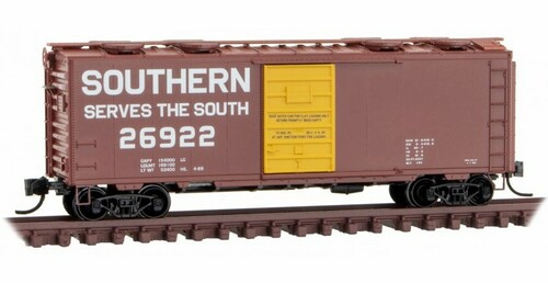 Micro-Trains N 02000257 40' Standard Box Car with Single Door and Roof Hatches, Southern #26922