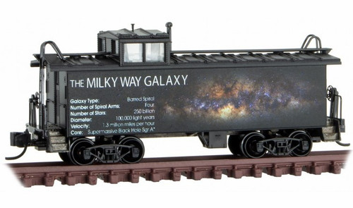 Micro-Trains N 10000810 36' Riveted Steel Caboose with Offset Cupola, Milky Way Galaxy