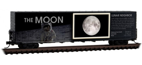 Micro-Trains N 10200840 60' Box Car with Excess Height and Modified Sides with Light, The Moon (No Restock Expected)