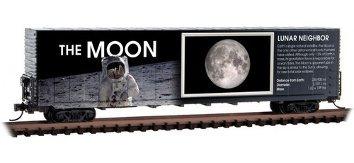 Micro-Trains N 10202840 60' Box Car with Excess Height and Modified Sides, The Moon (No restock expected)