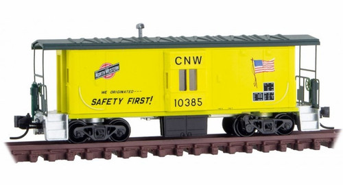 Micro-Trains N 13000280 31' Bay Window Caboose, Chicago and North Western #10385 (Discontinued no restock expected)