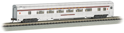 Bachmann N 14756 85' Coach with Lighted Interior, Pennsylvania Railroad #1572