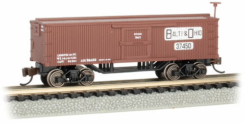 Bachmann N 15656 Old-Time Wood Box Car, Baltimore and Ohio #37450