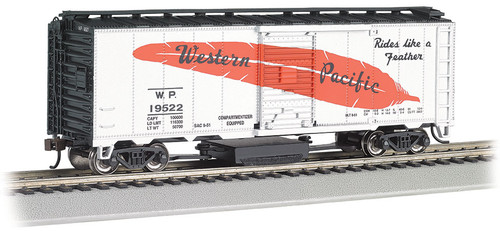 Bachmann HO 16322 Track Cleaning 40' Box Car, Western Pacific #19522