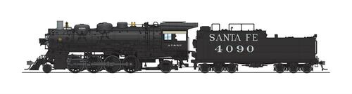 Broadway Limited Imports HO 4762 4000 Class 2-8-2, Atchison Topeka and Santa Fe #4090