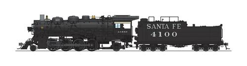 Broadway Limited Imports HO 4763 4000 Class 2-8-2, Atchison Topeka and Santa Fe #4100
