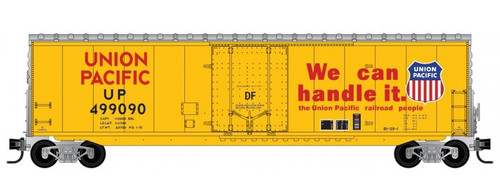Micro-Trains N 18100141 50' Standard Box Car with 8' Plug Door, No Roofwalk, and Short Ladders, Union Pacific #499090