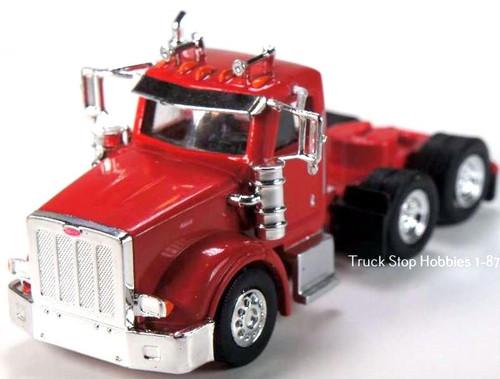 Trucks N Stuff HO 410511 Peterbilt 367 3-Axle Daycab (2-Pack)