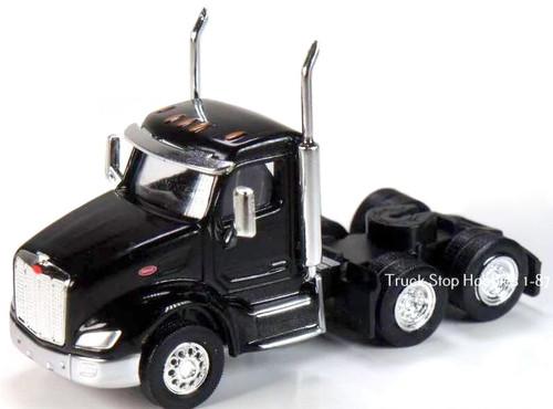 Trucks N Stuff HO 410534 Peterbilt 579 3-Axle Daycab (2-Pack)