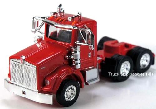 Trucks N Stuff HO 410661 Kenworth T800 3-Axle Daycab (2-Pack)