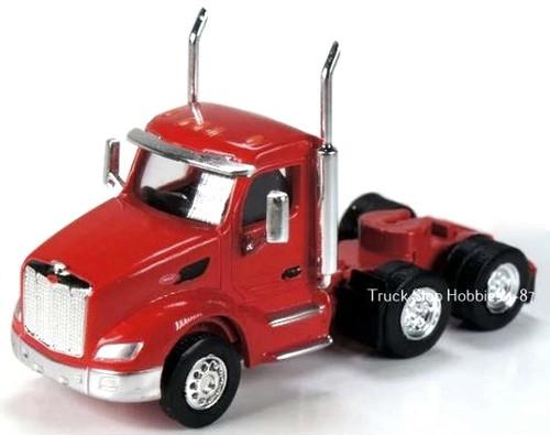 Trucks N Stuff HO 410681 Kenworth T680 3-Axle Daycab (2-Pack)