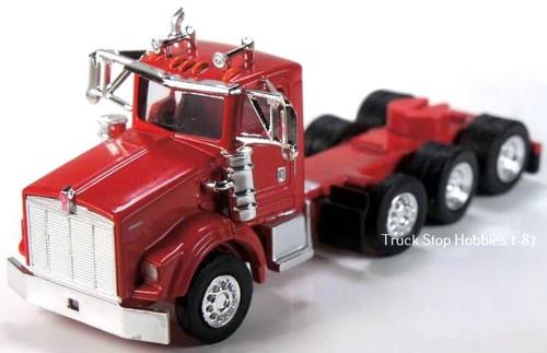 Trucks N Stuff HO 410671 Kenworth T800 4-Axle Daycab (2-Pack)