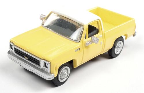 Classic Metal Works HO 30606 1973 Chevy Cheyenne Pickup, Adonis Yellow