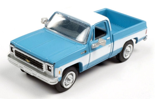 Classic Metal Works HO 30607 1973 Chevy Cheyenne Pickup, Clematis Blue