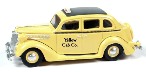 Classic Metal Works HO 30611 1936 Ford Sedan Taxi, Yellow Cab Co.