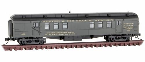 Micro-Trains N 14000390 RPO Heavyweight Passenger Car, Denver and Rio Grande Western #632