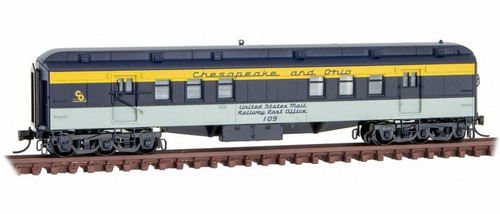 Micro-Trains N 14000410 RPO Heavyweight Passenger Car, Chesapeake and Ohio #109