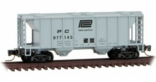 Micro-Trains Z 53100351 2-Bay Covered Hopper, Penn Central #877145