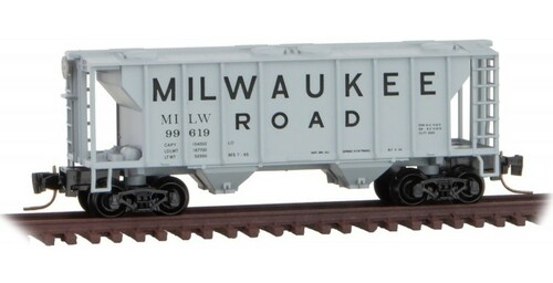 Micro-Trains Z 53100361 2-Bay Covered Hopper, Milwaukee Road #99619