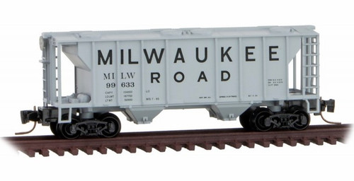 Micro-Trains Z 53100362 2-Bay Covered Hopper, Milwaukee Road #99633