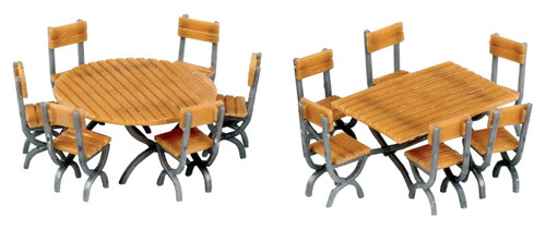 Walthers SceneMaster HO 949-4191 Table and Chair Kits