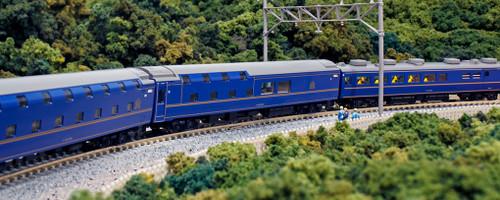 "Kato N 10831 Series 24 Sleeper Limited Express ""Hokutosei"" 6-Car Add-On Set"