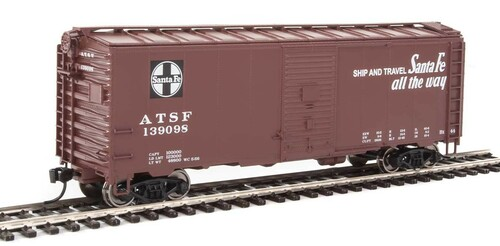 Walthers Mainline HO 910-1333 40' AAR 1944 Box Car, Santa Fe #139098