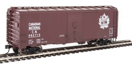 Walthers Mainline HO 910-1334 40' AAR 1944 Box Car, Canadian National #482715