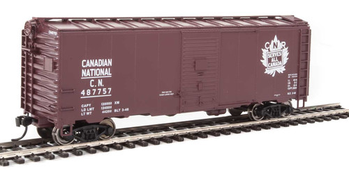 Walthers Mainline HO 910-1336 40' AAR 1944 Box Car, Canadian National #487757