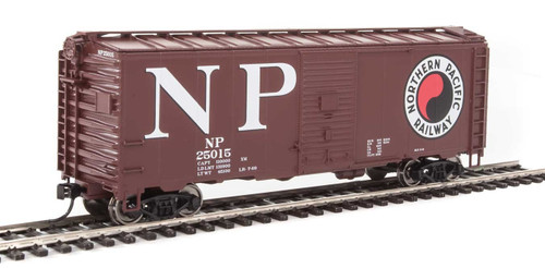 Walthers Mainline HO 910-1347 40' AAR 1944 Box Car, Northern Pacific #25015