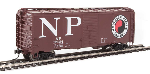 Walthers Mainline HO 910-1348 40' AAR 1944 Box Car, Northern Pacific #25034