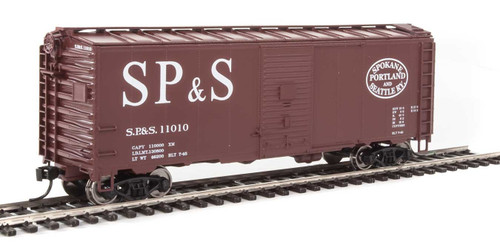 Walthers Mainline HO 910-1349 40' AAR 1944 Box Car, Spokane Portland and Seattle #11010