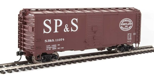 Walthers Mainline HO 910-1350 40' AAR 1944 Box Car, Spokane Portland and Seattle #11074