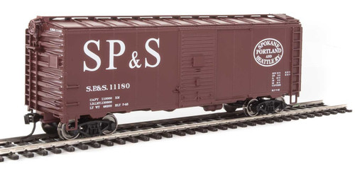 Walthers Mainline HO 910-1351 40' AAR 1944 Box Car, Spokane Portland and Seattle #11180